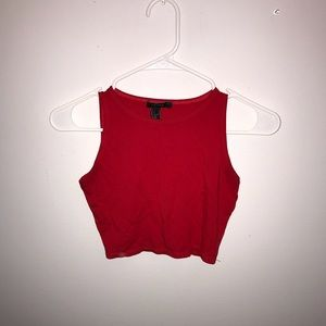 F21 Stretchy Red Crop Top
